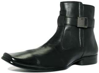 Mens Kenneth Cole Reaction Takin Note Black Leather Boots NEW 9 9.5 10