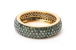 96 CT DIAMOND PAVE ETERNITY BAND 14 KT GOLD FINE RING