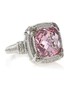 Judith Ripka Berge Pink Crystal Ring