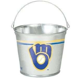 Brewers Galvanized Pail 5 Quart   MLB Ice Buckets Kitchen & Dining