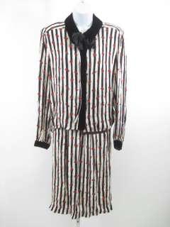 MISS O BY OSCAR DE LA RENTA Silk Striped Skirt Suit 14