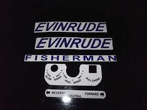1961 1963 Evinrude Fisherman 5.5 HP Outboard Motor Decals