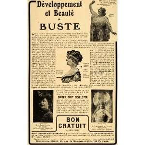 Bust Developer Opera Posture Deco   Original Print Ad