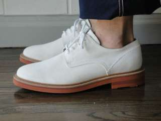 JUNYA WATANABE SS10 White Suede Oxford Shoes NIB