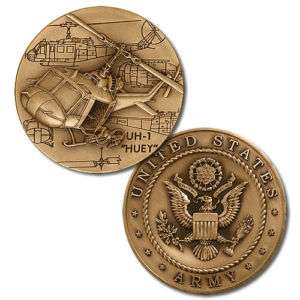 UNITED STATES ARMY HUEY HELICOPTER CHALLENGE COIN/MEDAL