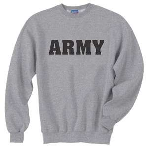 US United States Army Gray Crewneck Sweatshirt Gray Pullover Sweat