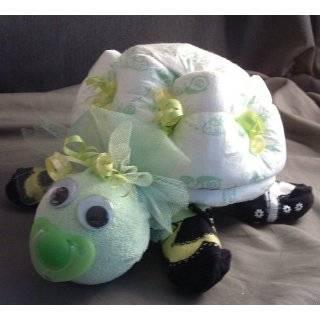 Turtle Diaper Cake Baby Shower Centerpiece Pink/green