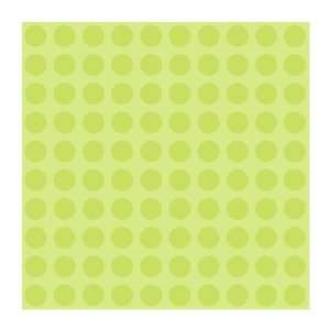 PW3947 Girl Power 2 Dots Wallpaper, Lime Green: Home Improvement