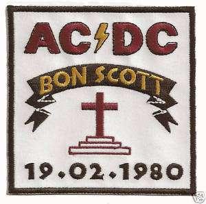 AC/DC ACDC  BON SCOTT MEMORIAL PATCH rose tattoo angus