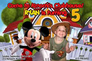 MICKEY MOUSE CLUBHOUSE 1ST BIRTHDAY PARTY INVITATION C13 PHOTO   23