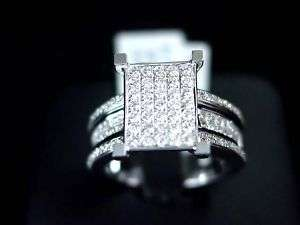 WOMENS DIAMOND ENGAGEMENT RING 14K WHITE GOLD ROUND