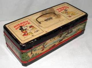 1930s CLIMAX WALT DISNEY ENTERPRISES MICKEY MOUSE LITHOGRAPHED METAL