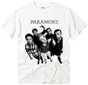 Paramore band riot indie Punk Music Rock white t shirt