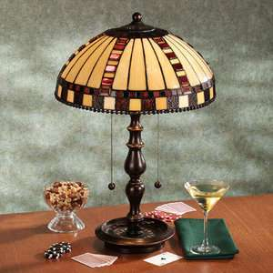 Dale Tiffany Stained Glass Table Lamp Game Room Decor
