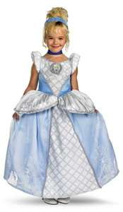 Prestige Disney Princess Blue Dress Up Halloween Deluxe Child Costume