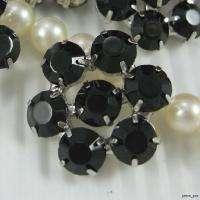 Sparkling Black Crystal Rhinestone Buttons #B380