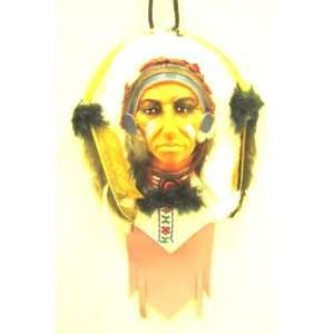 Hand Painted Indian Chief 03 Hanging Sculpture Craftwork