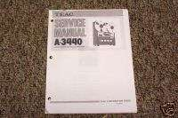 Teac A 3440 Reel to Reel Service Manual FREE SHIP!