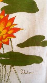 Vintage ALFRED SHAHEEN Signed Vtg SCREEN Print RETRO Art Panel / WALL