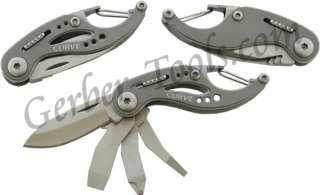 Gerber Curve Mini Multi Tool Knife Screwdrivers Carabiner Key Chain