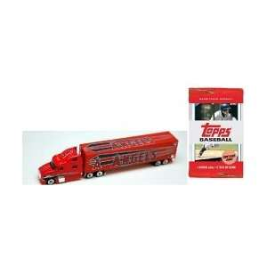 2009 MLB 1:80 Scale Tractor Trailer Diecast   Anaheim Angels with 3