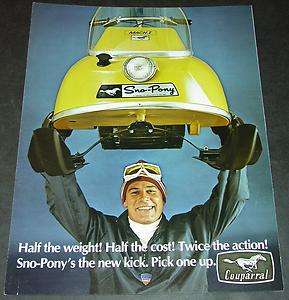 VINTAGE 1970 SNO PONY SNOWMOBILE SALES BROCHURE SHARP