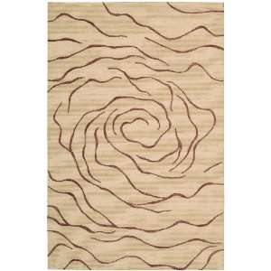 Nourison Sorrento Big Rose Natural 8.0 Feet by 10.0 Feet
