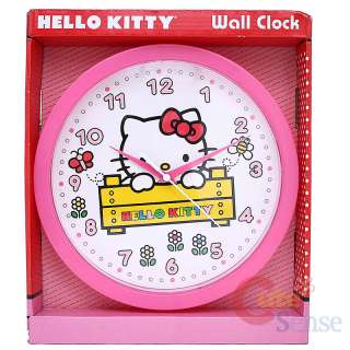 Sanrio Hello Kitty Wall Clock  Pink Round Watch 10