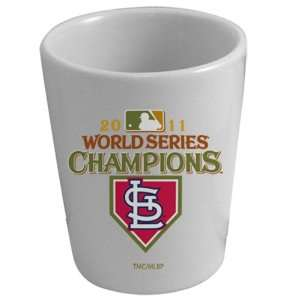 Cardinals 2011 World Series Champions 2oz. White Ceramic Shot Glass