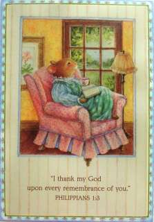 Holly Pond Hill Mouse Thinking Of Praying For You Card
