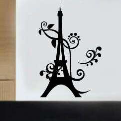 Wall Art Vinyl Decal Sticker Eiffel Tower Paris