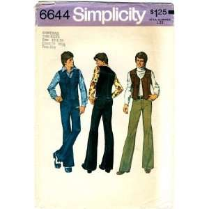 Pattern Teen Boys Vest & Jeans Size 18   20 Arts, Crafts & Sewing