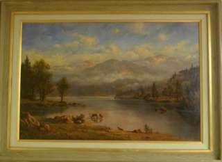 Heinie Hartwig Original Oil Painting  HIgh Mountain Lake