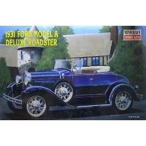 1931 Ford Model A Deluxe Roadster 1 16 by Minicraft Toys & Games