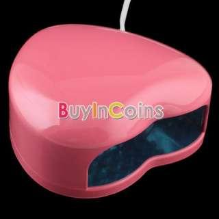 110V Nail Art Heart Shape Lamp Light Top LED UV Gel Salon Design Cure