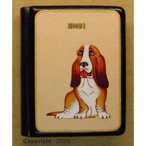 com Handmade Leather Notebook Basset Hound Dog Book Like Art Books