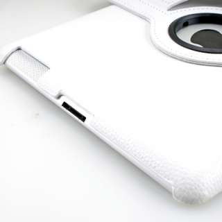degree Rotating Swivel Magnetic Smart Leather Stand Cover Case iPad 2