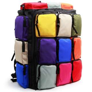 Mens & Womens Multi Pocket Travel Backpack Book bag MP9927US Black