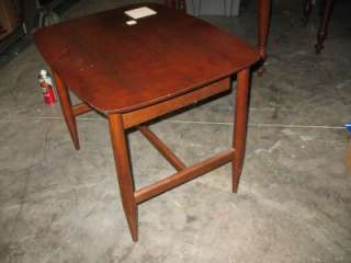 Vintage Danish Modern Mid Century Walnut Night Stand Side table Eames
