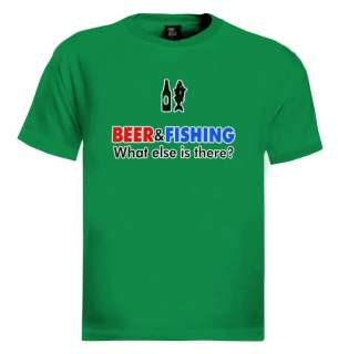 New beer and fishing men T shirt funny humor drinking gift tee s xxl