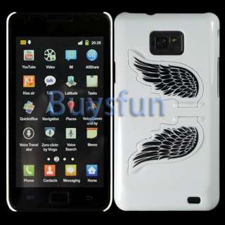 Angel Wing White Hard Cover Stand Case For Samsung Galaxy S2 S II