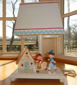 ~Nursery~Hansel&Gretal~Child~Baby~Wooden~Lamp+Night Light+Wall Plaque