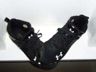 Mens Black/White Baseball Soccer Athletic Sports Cleats Size 9
