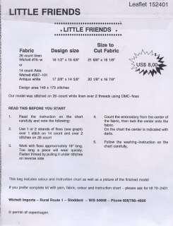 Little Friends Kitten Teddy Bear X Stitch Pattern NEW