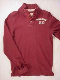 HOLLISTER Long Sleeve Embroidered Henley Shirt (Mens Medium)