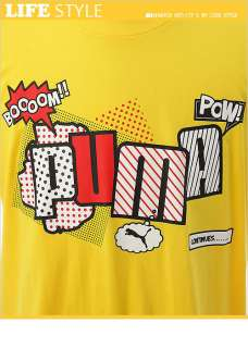 BN PUMA Capsule Mens Short Sleeve T Shirt Yellow M XXL