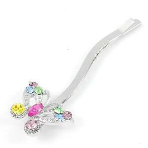 Hair Clip with Multi color CZ and Swarovski Crystals (1 pc) (2285