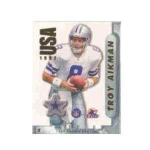 Aikman Dallas Cowboys NFL Football Sticker Stamp