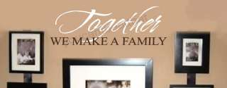 Together Family Stickers Vinyl Wall Decal Words Letters