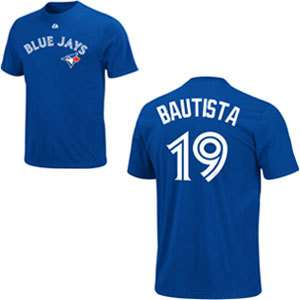 Jose Bautista Blue Jays Name & Number Majestic Jersey T Shirt